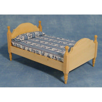 Natural Wood Single Bed