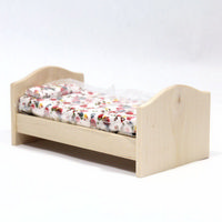 Natural Wood Childs Bed