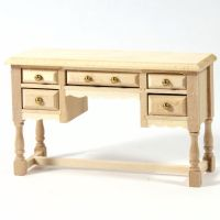 Dolls House Natural Wood Dressing Table