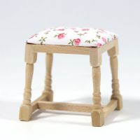 Dressing Table Stool - Plain Wood