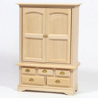 12th Scale Blanket Cupboard - Plain Wood