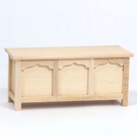 12th Scale Blanket Chest - Plain Wood