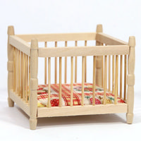 12th Scale Playpen - Plain Wood