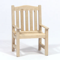 12th Scale Garden Chair - Plain Wood