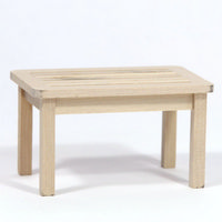 12th Scale Garden Table - Plain Wood
