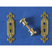 Classic Solid Brass Door Handle and Plate Set