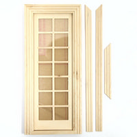 Glazed Interior Door for 1:12 Scale Dolls House