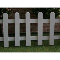 White Pickett Fence for 1:12 scale Dolls House