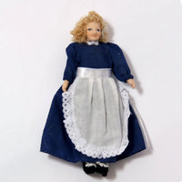 Clothed Miniature Maid Doll 12th Scale
