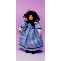 Miniature Clothed Young Girl Doll Figure Ellie