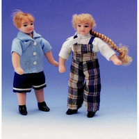 Clothed Boy Girl Doll Figures