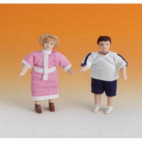 Clothed Miss & Master Robinson Child Figures
