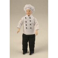 Clothed Miniature Chef Cook Doll 12th Scale