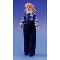 Miniature Clothed Young Woman Doll Figure Jennie