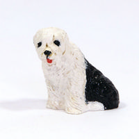 Old English Sheepdog Small Dog Figure