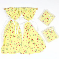 Yellow Dolls House Curtains & Cushions