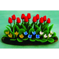 Red Tulips & Bedding Plants