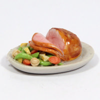 Large Gammon Ham Platter for Dolls House