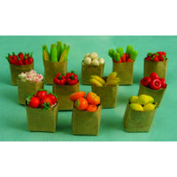 Selection of 12 Fruit & Vegetables in Paper Bags