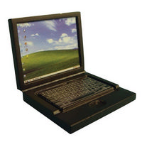 Dolls House Laptop Computer - Black