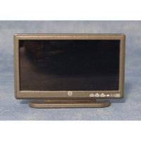 "Black 42"" Wide Screen TV for 1:12 scale dolls house"