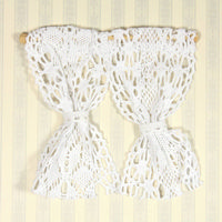 White Net Curtains for 1:12 Scale Dolls House