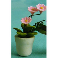 Pot Plant for Dolls House - Pink