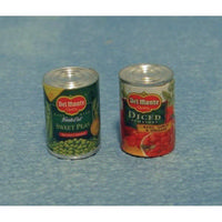 2 Miniature food Tins