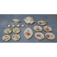 Pink Rose Miniature Dinner Set