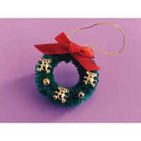 Decorated Dolls House Teddy Christmas Wreath