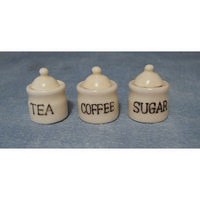 Glazed Tea Coffee & Sugar Pots