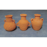 Large Terracotta Amphora - Set of 3
