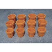 Terracotta Flowerpots - Set of 12