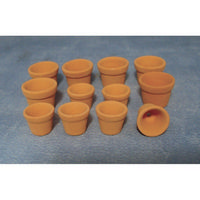 Terracotta Flower Pots x6 pairs *DAMAGED*