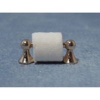 Silver Toilet Roll Holder - 12th Scale