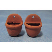Terracotta Wall pots x2 - 12th Scale