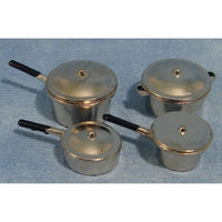 Dolls House Saucepan Set