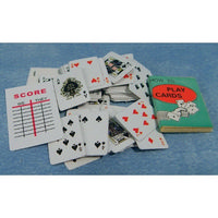 Miniature Playing Cards with Book & Score Sheet