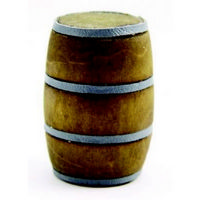 Wooden Barrel - 1:12 Scale