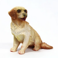 Golden Retriever Sitting Dog Figure