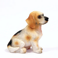 Beagle Sitting Dog Figure