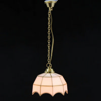 Hanging Tiffany Style Dollshouse Light - White Shade