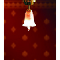 Ceiling Light with Tulip Shade - 1:12 Scale