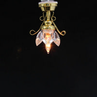 Lily Ceiling Dolls House Light with Clear Shade
