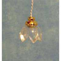 Lily Dolls House Light with Clear Shade