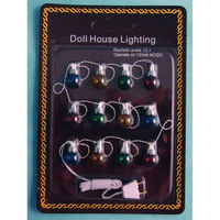 String of 12 Exterior Dollshouse Christmas Lights