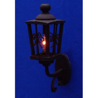 Black Dolls House Coach Lamp - 1:12 scale