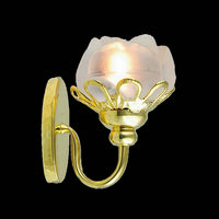 Wall Sconce With Flower Shade for Dolls House