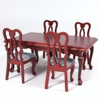 Dolls House Rectangle Dining Table & 4 Chairs