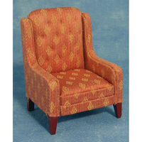 Button Back Armchair for Dolls House